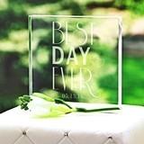 Cathy's Concepts Personalizable 'Best Day Ever' Acrylic Cake Topper