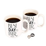 Personalizable 'Best Day Ever' 20 oz. Large Coffee Mugs (Set of 2)