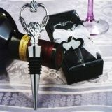 Unique Ornate Heart Wine Stopper and Bottle Opener Combination