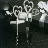Two Hearts are Better than One Wine Opener and Bottle Stopper Set