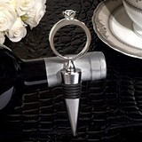 Cassiani Collection Bling a Diamond Ring Silver Wine Stopper