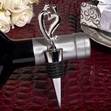 Cassiani Collection Two Hearts Become One Silver Wine Stopper