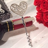 Cassiani Collection Ornate Heart Silver-Chrome Wine Opener
