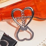 Cassiani Collection Unique Cross in Heart Bottle Opener