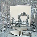 Elegant Silver Wedding Coach Accessory Set