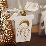 Stunning Madonna Ornament with Ivory Ribbon from Cassiani Collection