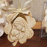 Hanging Flower Design Madonna Ornament by Cassiani Collection