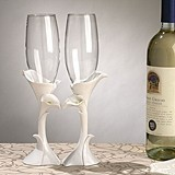 Dazzling Calla Lily Toasting Glasses (Set of 2)