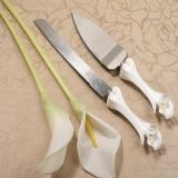Calla Lily Cake and Knife Set