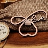 Vintage-Look Copper-Finish 'Endless Love' Bottle Opener in Burlap Bag