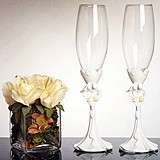 Calla Lily Bouquet Toasting Glasses