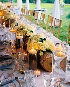 fall-wedding-reception-logs