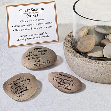 Large Natural Guest Signing Stones (Package of 15-20 Stones)